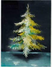 Bergmannstanne, schwebend, 81x 59 cm, oil on canvas, 2011