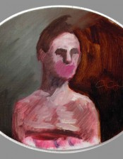 Le rire, oval, 12X 18 cm, oil on cardboard, 2010