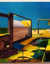 Hier sollten eigentlich mal Kinder spielen, 85X 110 cm, oil on canvas, 2011