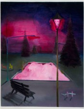 Pink Pool, 70x 100cm, acrylic and oil on canvas, 2010