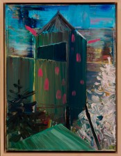 Hochsitz im Tannenwald, 40x 30 cm. oil on canvas, 2011, private collection, Germany