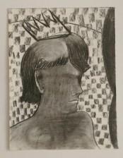 King, c.a. 30x40 cm, charcoal/ paper, 2013
