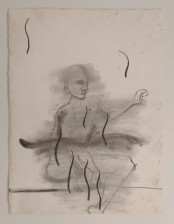 Weirdo, ca. 30x40 cm, charcoal/ paper, 2013