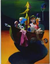 Fähre, 240x 180 cm, oil on canvas, 2011-2013, private collection, Saudi- Arabia
